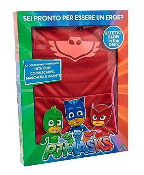 Giochi Preziosi – Super pigiamini PJ MASKS disfraz Carnaval gufetta, talla 3/4 años
