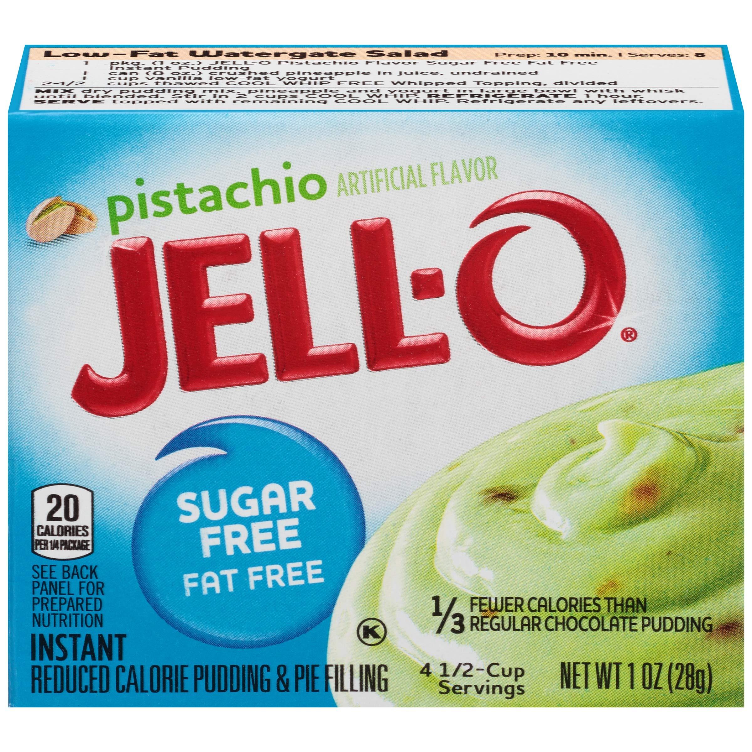Jell-O Instant Sugar-Free Fat-Free Pistachio Pudding & Pie Filling, 1 oz Box