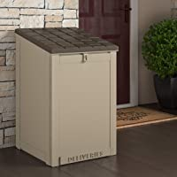 Cosco 6.3 Cu. Ft. Outdoor LIving BoxGuard, Large Lockable Package Delivery and Storage Box