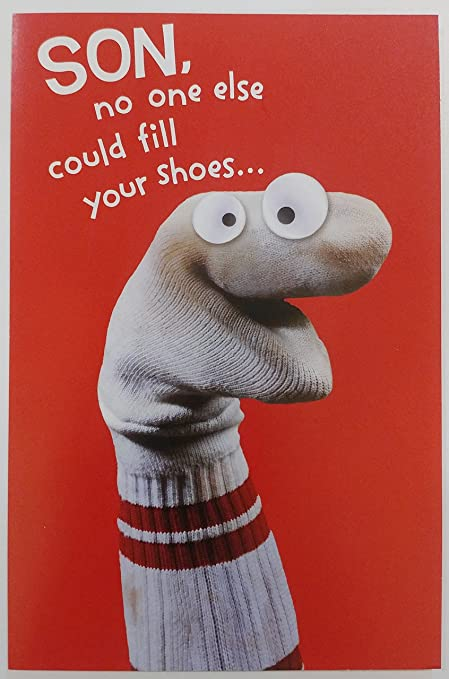 Amazon Happy Birthday Son Funny Humor Greeting Card No One Go Near Your Socks Office Products