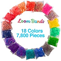 Deals on Loom Rubber Bands 7800-Pcs Value Pack - 18 Color Refill Set
