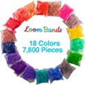 Loom Rubber Bands 7800-Piece Value Pack Set (18-Color Refill)