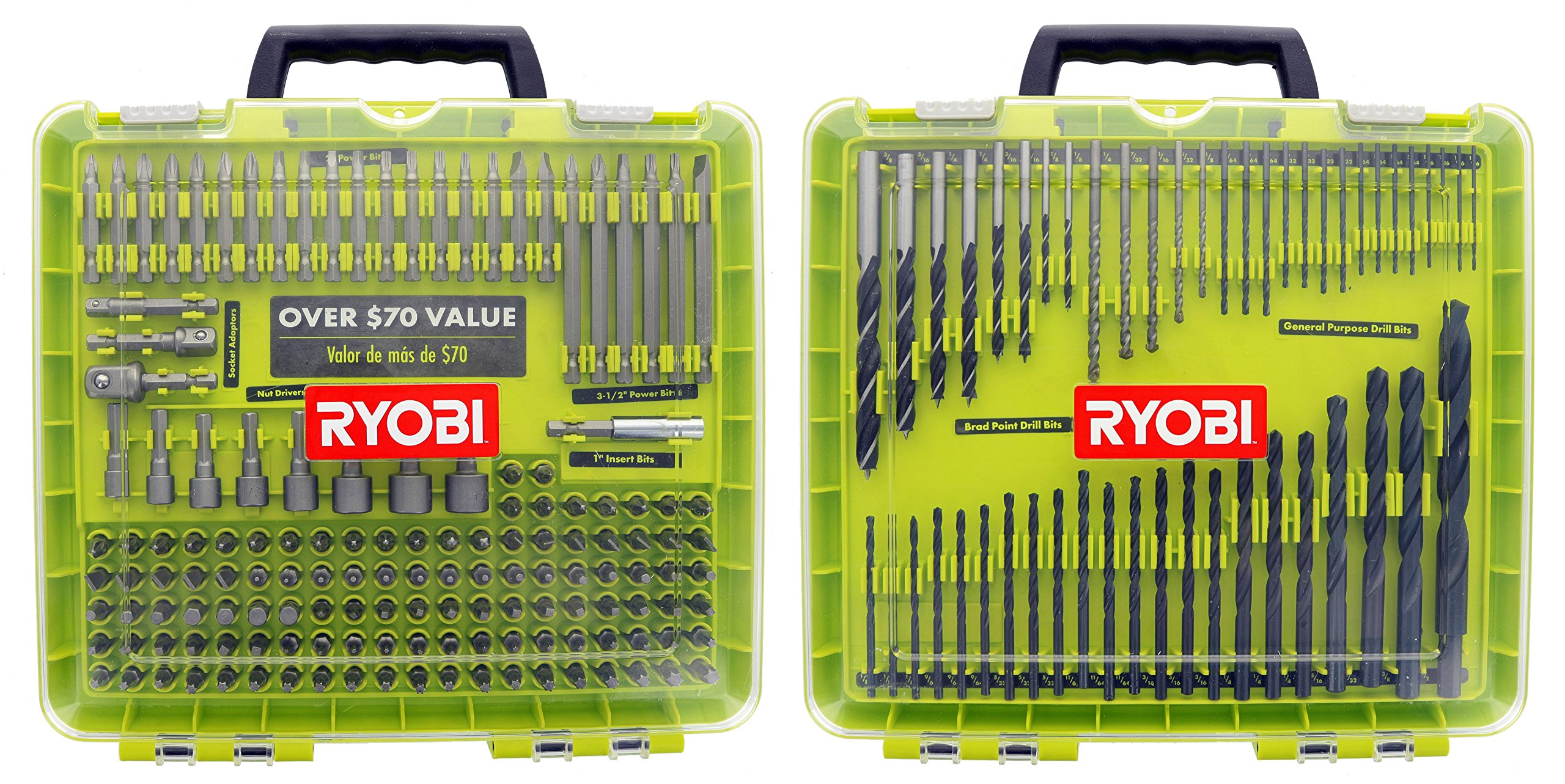 Ryobi A981952QP 195 Piece Drilling and Driving Kit for Wood, Plastic, Metal, and Masonry Work by Ryobi