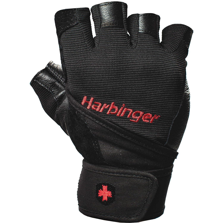 Harbinger Uni Fitnesshandschuhe Pro Wrist Wrap, schwarz, L, 19140L