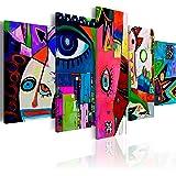 murando Quadro 200x100 cm 5 Pezzi Stampa su Tela in TNT XXL Immagini Moderni Murale Fotografia Grafica Decorazione da Parete Astratto a-A-0113-b-n