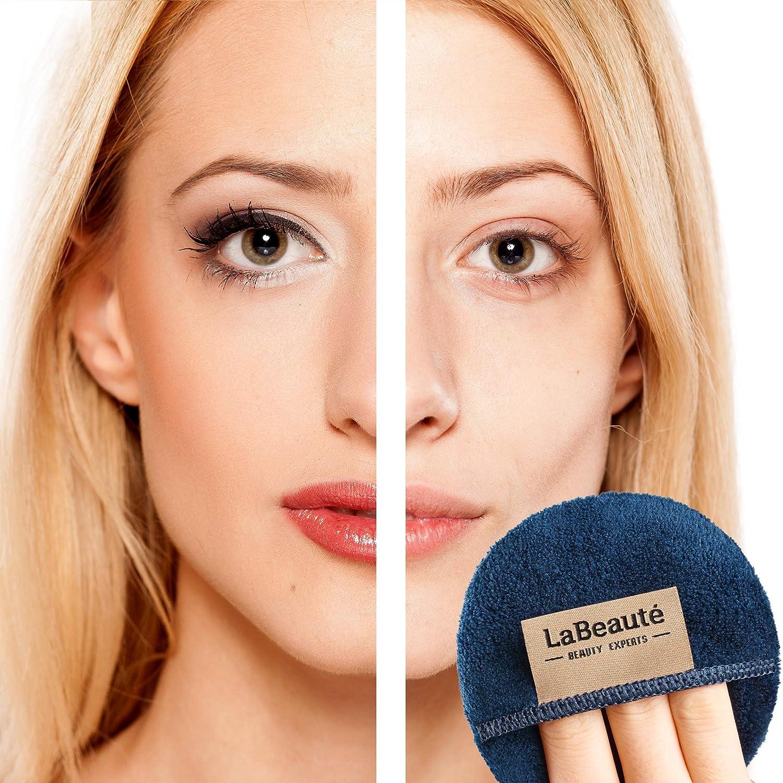 waschbar und wiederverwendbar LaBeaut/é Make-Up Entferner Pads /Ø 9 cm, Navy-Dunkelblau 6 St/ück Gesichtsreinigung und Abschminkpads