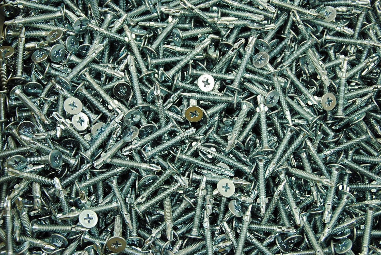 Self-Piercing Zip Screws 10 x 1-1//4 Hex Washer Head 5//16 Combo Drive 700