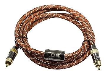 Audio Digital Coaxial Cable (5 pies) doble blindado con RCA a RCA conectores dorados
