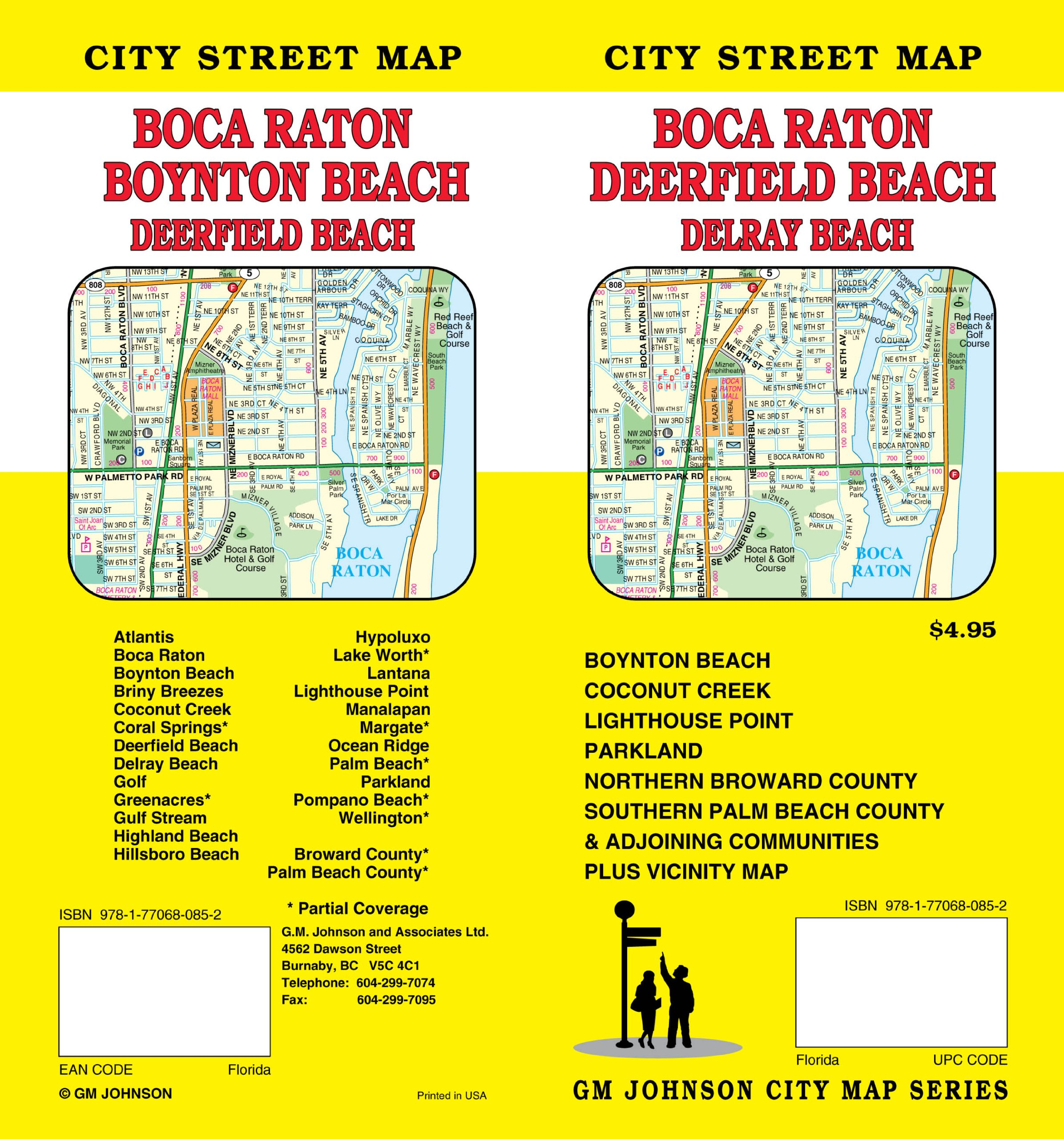 Map Of Florida Showing Boca Raton.Boca Raton Fl City Street Map Gm Johnson Associates Ltd