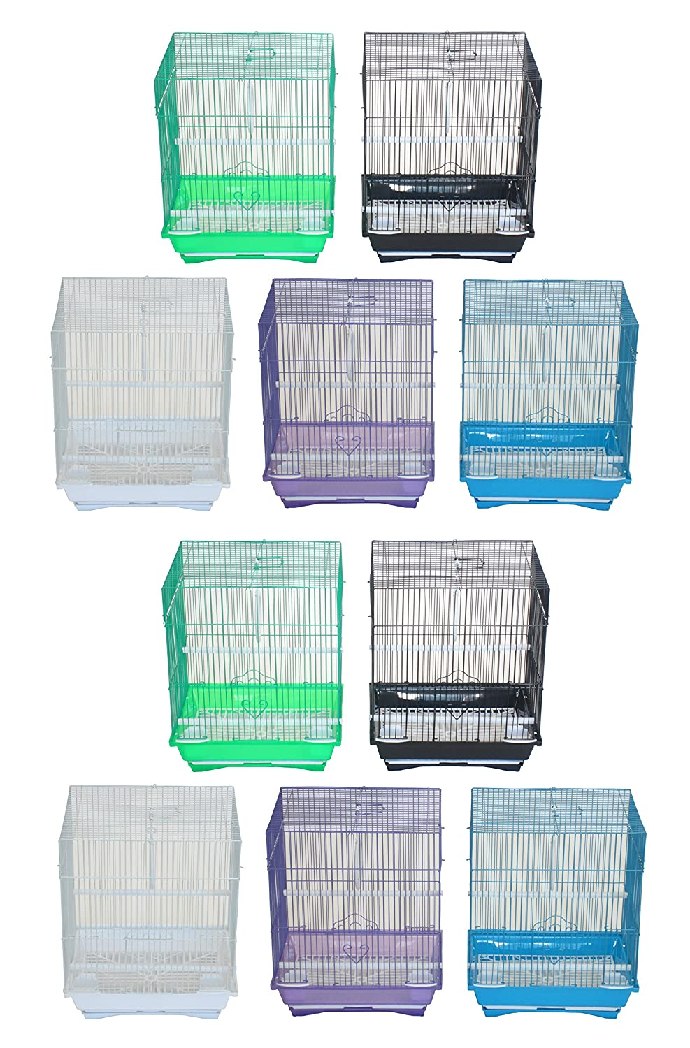 YML Lot of 10 Flat Top Parakeet Cage, Medium 1324x10