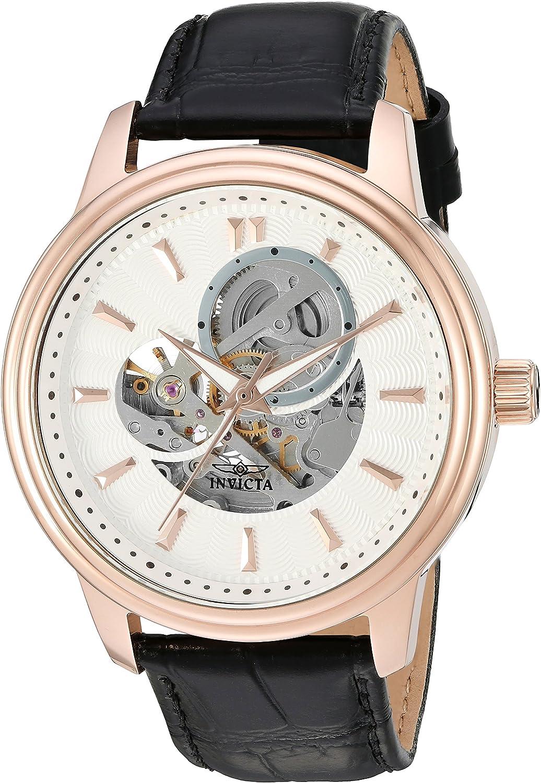 Invicta Men s 22579 Vintage Analog Display Automatic Self Wind Black Rose Silver Watch
