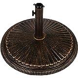 pied de parasol vert en fonte massif 17 kg jardin. Black Bedroom Furniture Sets. Home Design Ideas