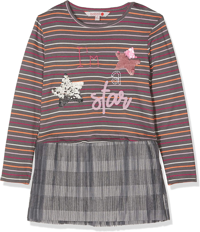 boboli Knit Dress Striped For Baby Girl Vestido, Gris (Marengo ...