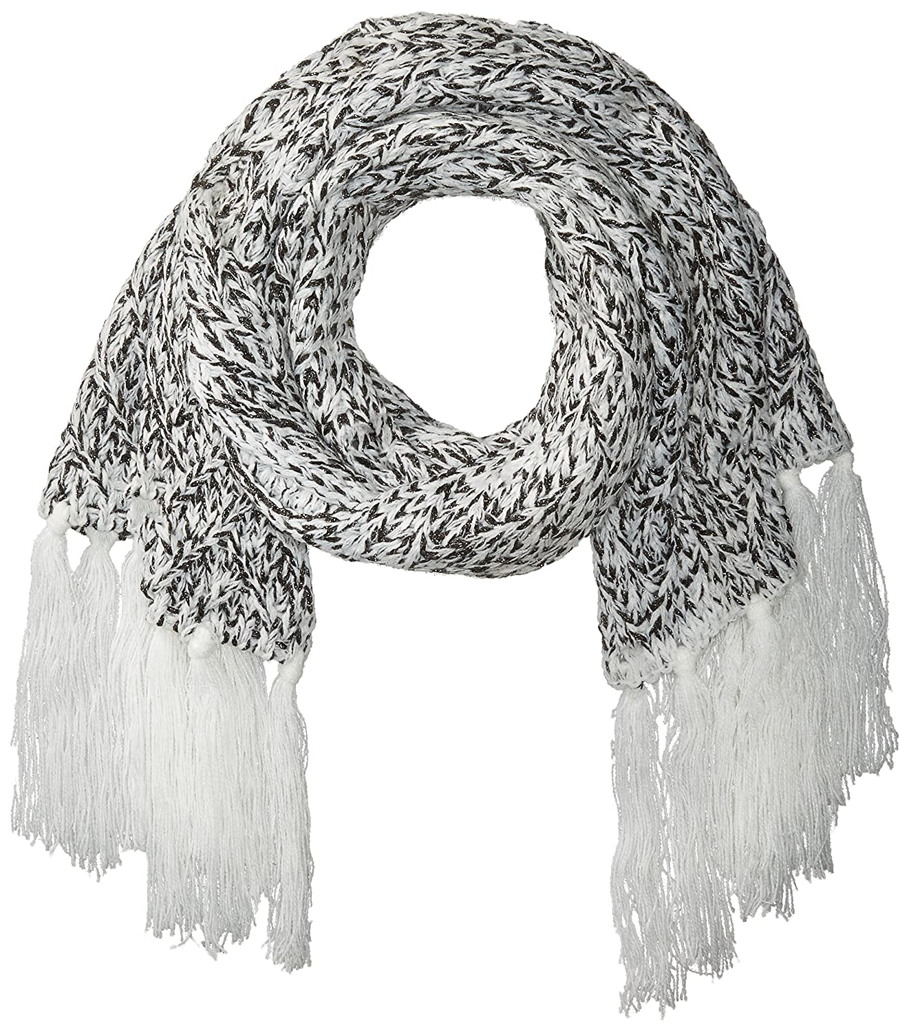Ellen Tracy womens Knit Oblong Scarf With Self Knit Fringe White One Size Ellen Tracy Women' s Accessories ETF-0747S