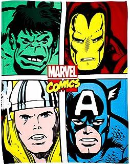 Polyester Multi-Colour Single Marvel Avengers Comic Book Polar Fleece Blanket