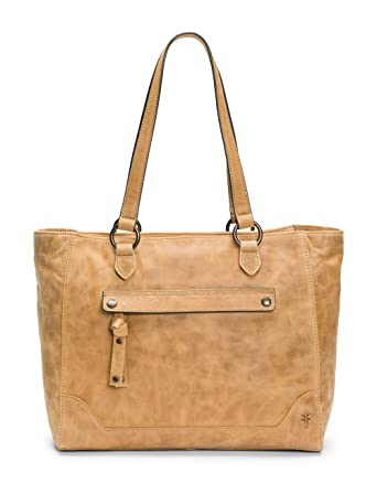 03db0b3b7 Amazon.com: FRYE Melissa Zip Leather Tote, beige: Clothing