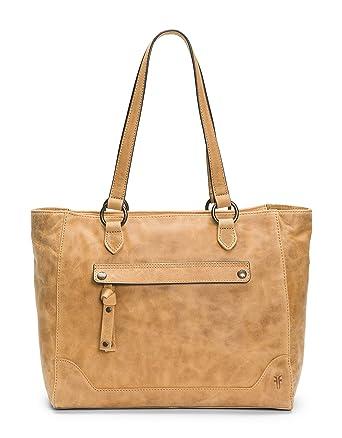972312461 Amazon.com: FRYE Melissa Zip Leather Tote, beige: Clothing