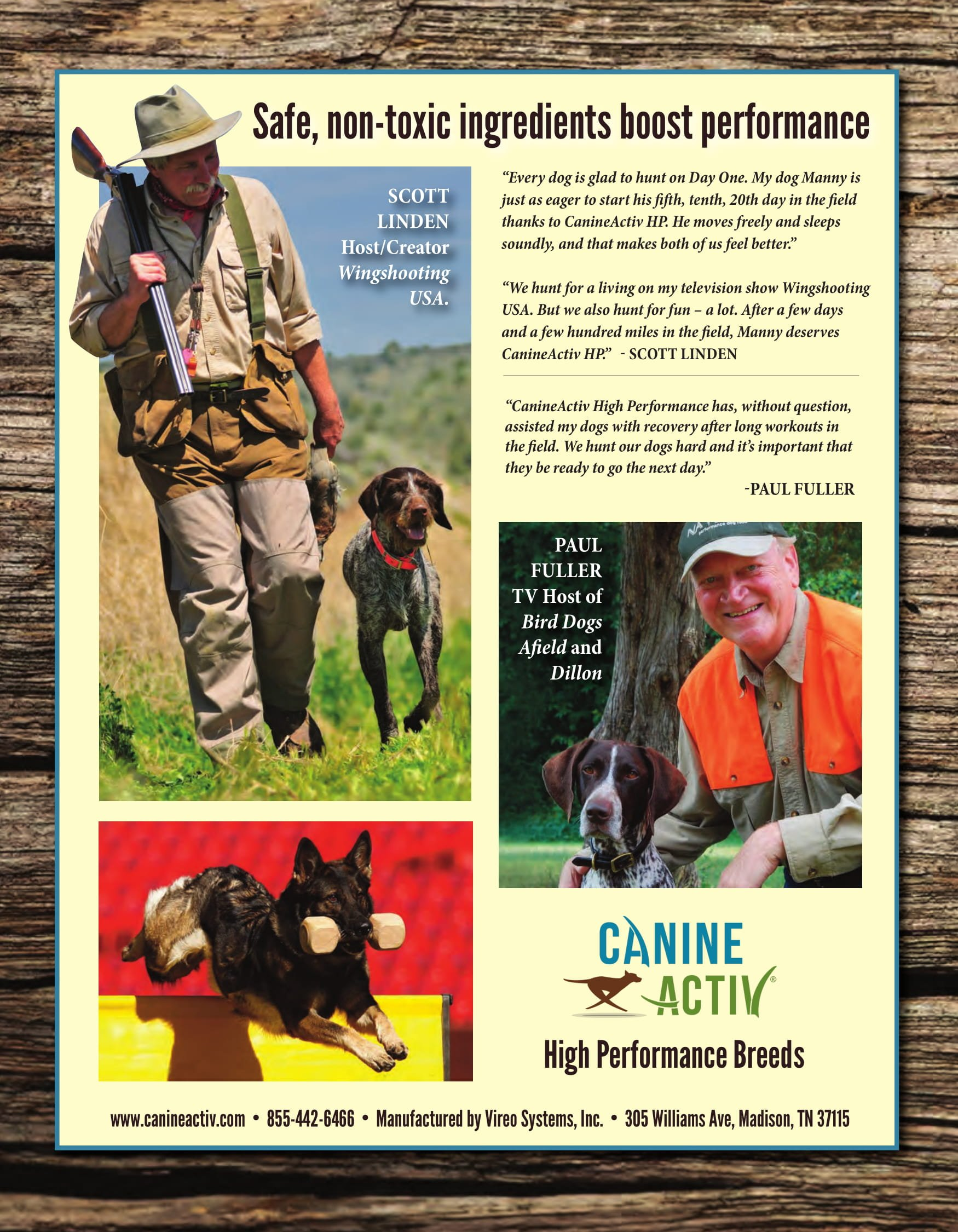 CanineActiv for High Performance Breeds - Endurance, Stamina, and Recovery Supplement Providing Relief from Exercise Induced Inflammation and Soreness for Hunting, Sporting, and Working Dogs(90ct) by CanineActiv