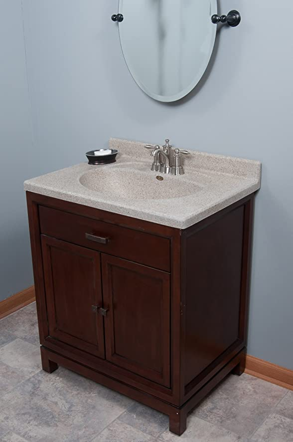 Imperial FB3122CAPSS Olympic Oval Bowl Bathroom Vanity Top, 31-Inch Wide By  22-Inch Deep, Cappuccino Matte Finish - Vanity Sinks - Amazon