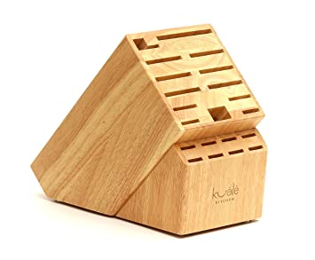 Amazon Com 21 Slot Universal Solid Wood Kitchen Knife Storage Block