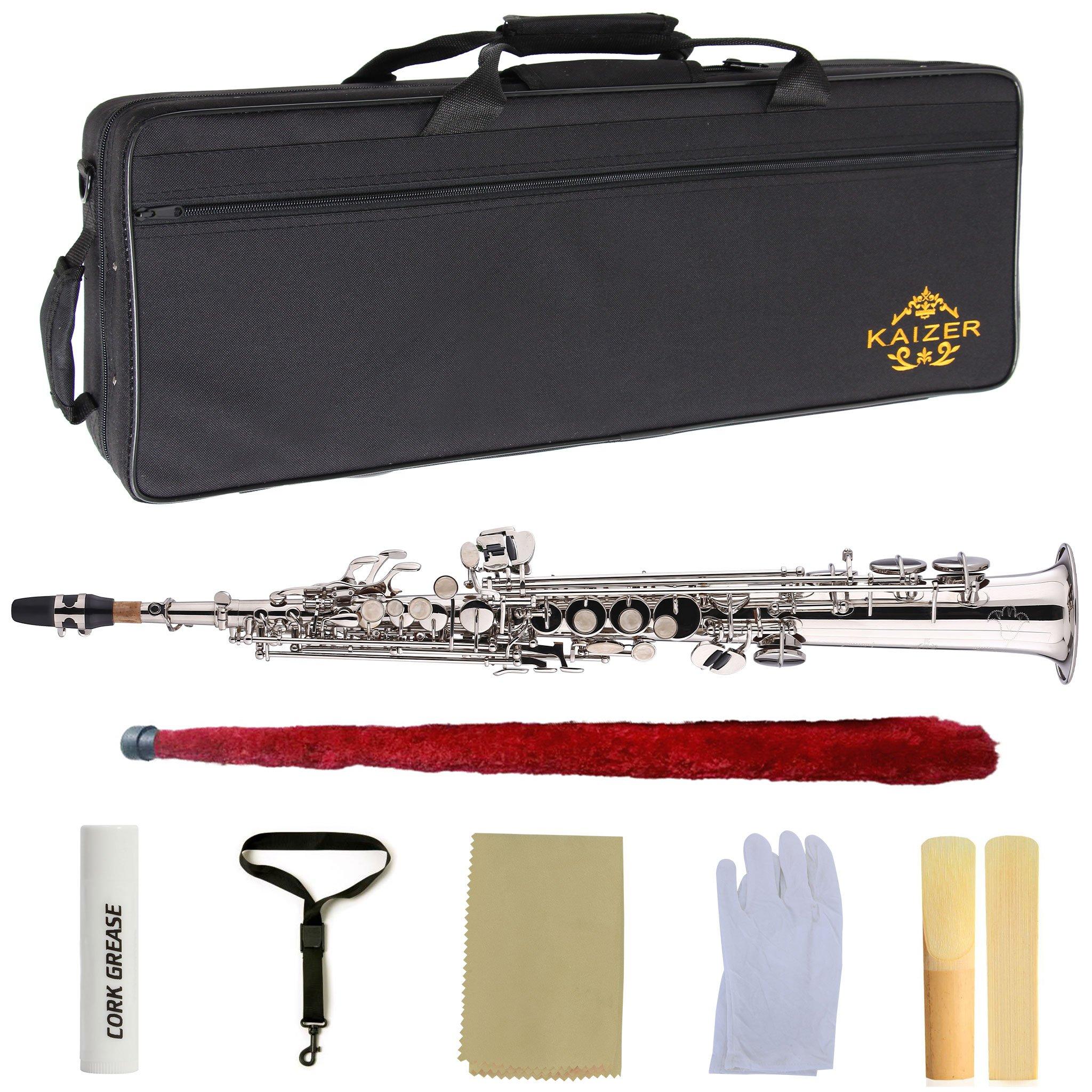 Kaizer Soprano Saxophone Straight B Flat Bb Nickel Silver SSAX-1000NK by Kaizer (Image #7)