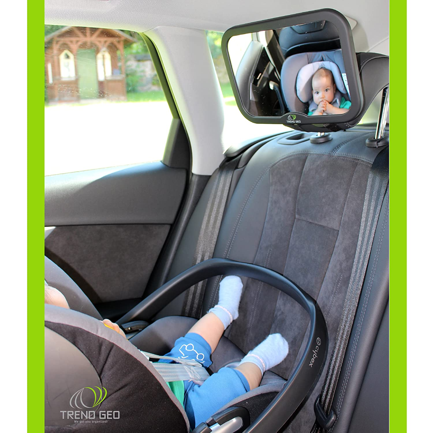 Rear Facing Car Seat or Front Facing Back Seat Clear View of Infant in Infant Seat 2 Mirrors Set for Infant Car Seats Easy to Install at The Rear Trendgeo Baby Car Seat Mirror Safe Shatter Proof