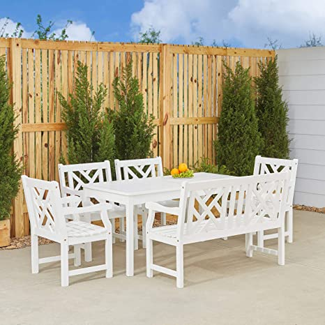 Excellent Amazon Com Vifah V1297Set18 4 Piece Renaissance Outdoor Ocoug Best Dining Table And Chair Ideas Images Ocougorg