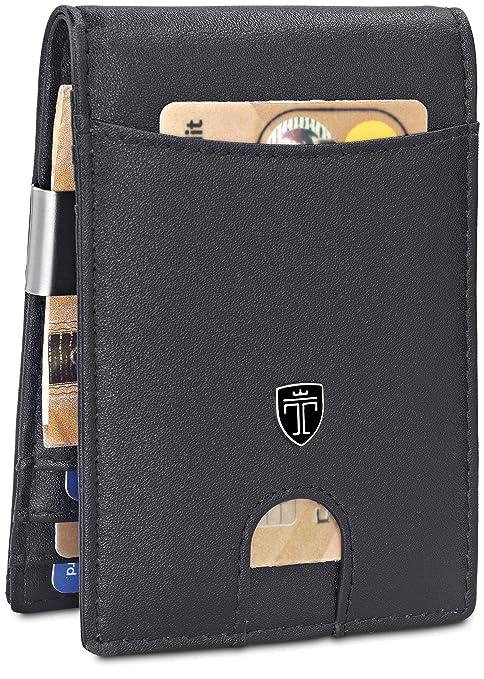 166b90ae13737 TRAVANDO Geldbeutel Männer mit Geldklammer Cologne Slim Portemonnaie Wallet  Portmonaise Herren Geldtasche klein Portmonee RFID Schutz