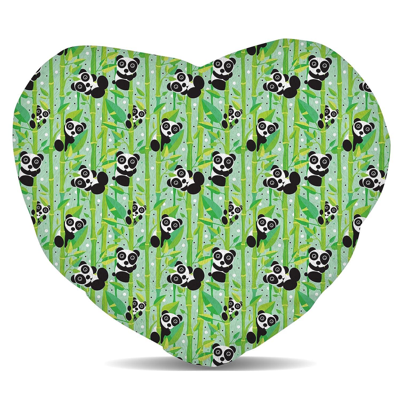 Amazon.com: Osos Panda y polar – Cojín con forma de corazón ...