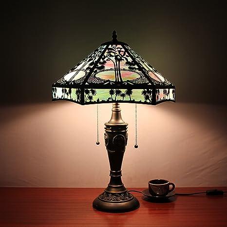 Europea Tiffany Lámpara de mesa de 16 pulgadas de la antigüedad de ...