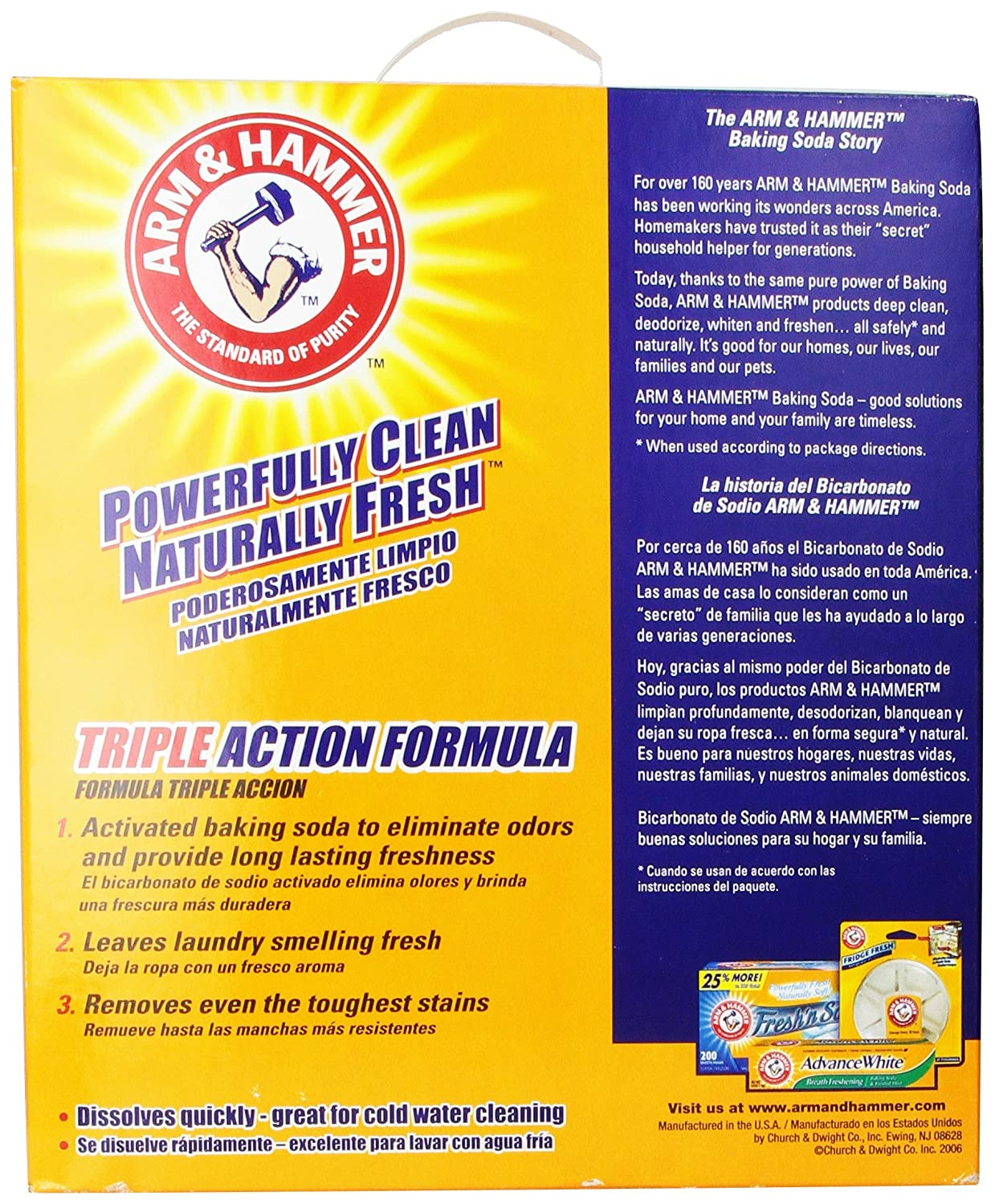 Amazon.com: Arm & Hammer Laundry Detergent, Cool Breeze, 14.22 Lbs: Health & Personal Care