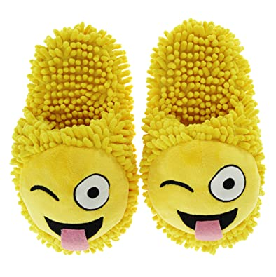 0a514d812ccf0 Aroma Home Wink Emoji Fuzzy Friends Chaussons  Amazon.fr  Chaussures ...