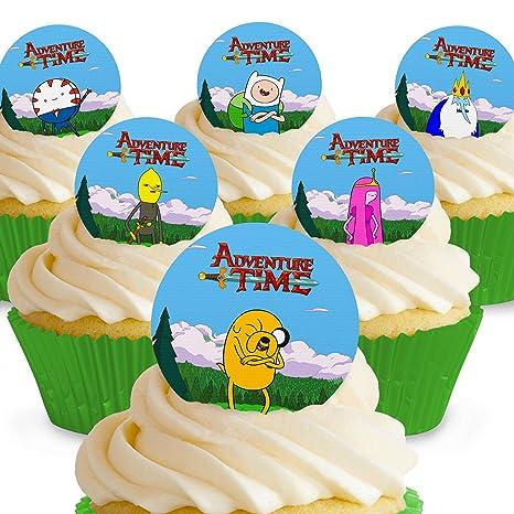 12 X Vorgeschnittene Und Essbare Adventure Time Kuchen Topper