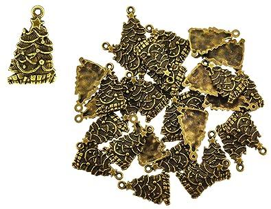 Amazon mandala crafts wholesale tone christmas theme charm mandala crafts wholesale tone christmas theme charm pendantschristmas tree 30 pcs aloadofball Images