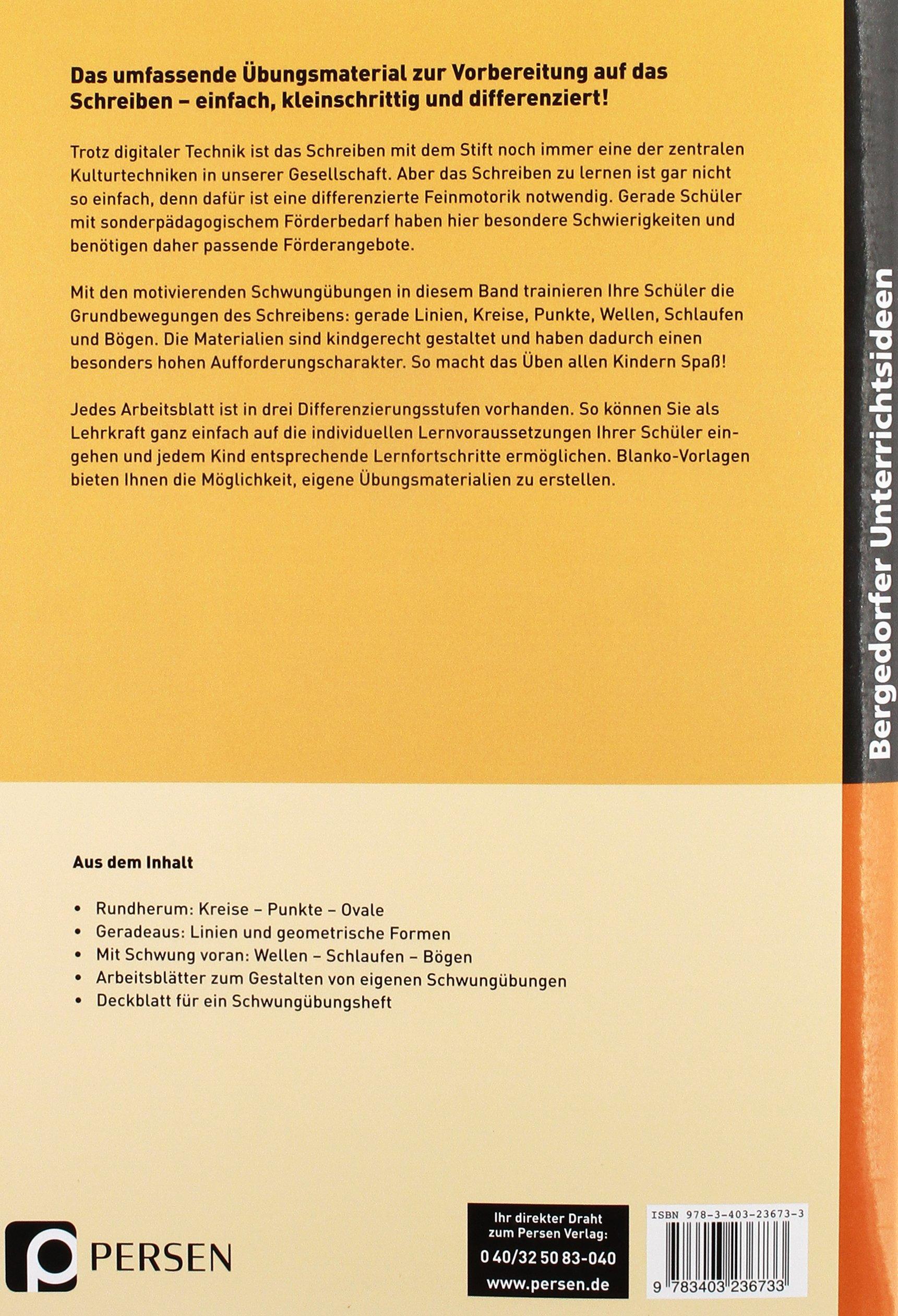 Vorübungen zum Schreiberwerb: Schwungübungen: Lernvoraussetzungen im ...