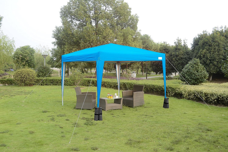 Quictent KMS – Toldo 3 x 3 Meter luz Azul Pop Up Gazebo toldo con ...
