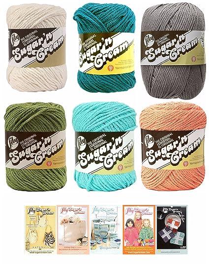 Amazon Lily Sugar N Cream Variety Assortment 6 Pack Yarn