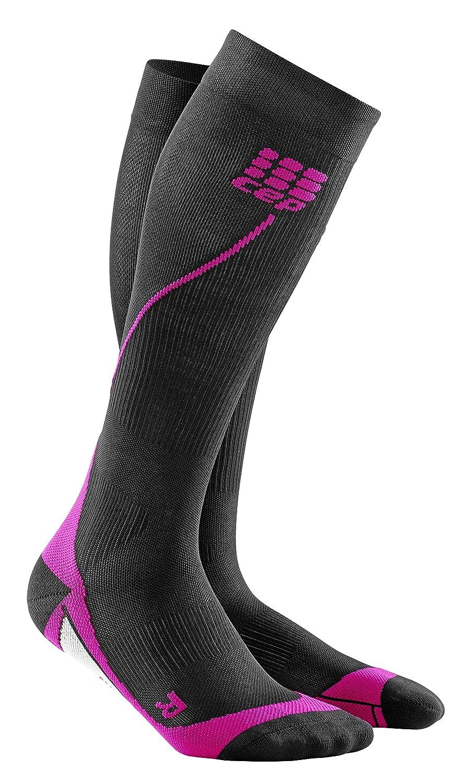 Black Pink CEP Women's Progressive+ Compression Run Socks 2.0