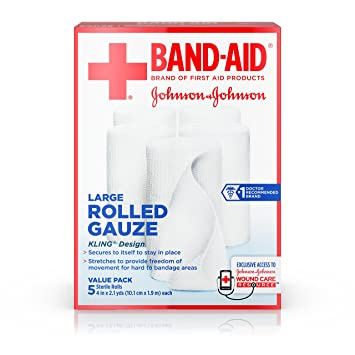 Amazoncom Band Aid Brand Of First Aid Products Rolled Gauze 4