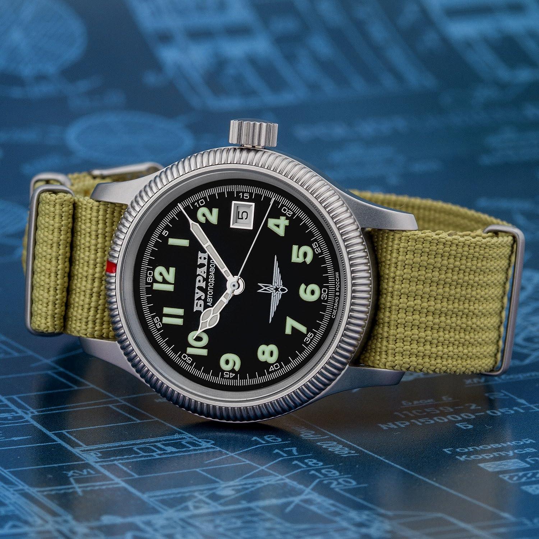BURAN Automatic - 2824-6503711 - Fliegeruhr - Natostrap