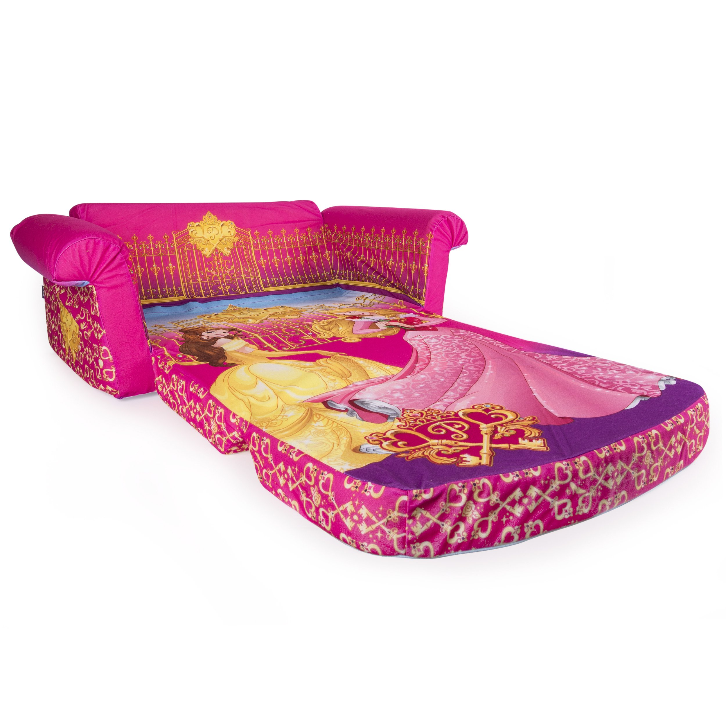 Marshmallow Furniture, Children's 2 in 1 Flip Open Foam Sofa, Disney Princess, by Spin Master by Marshmallow Furniture (Image #3)