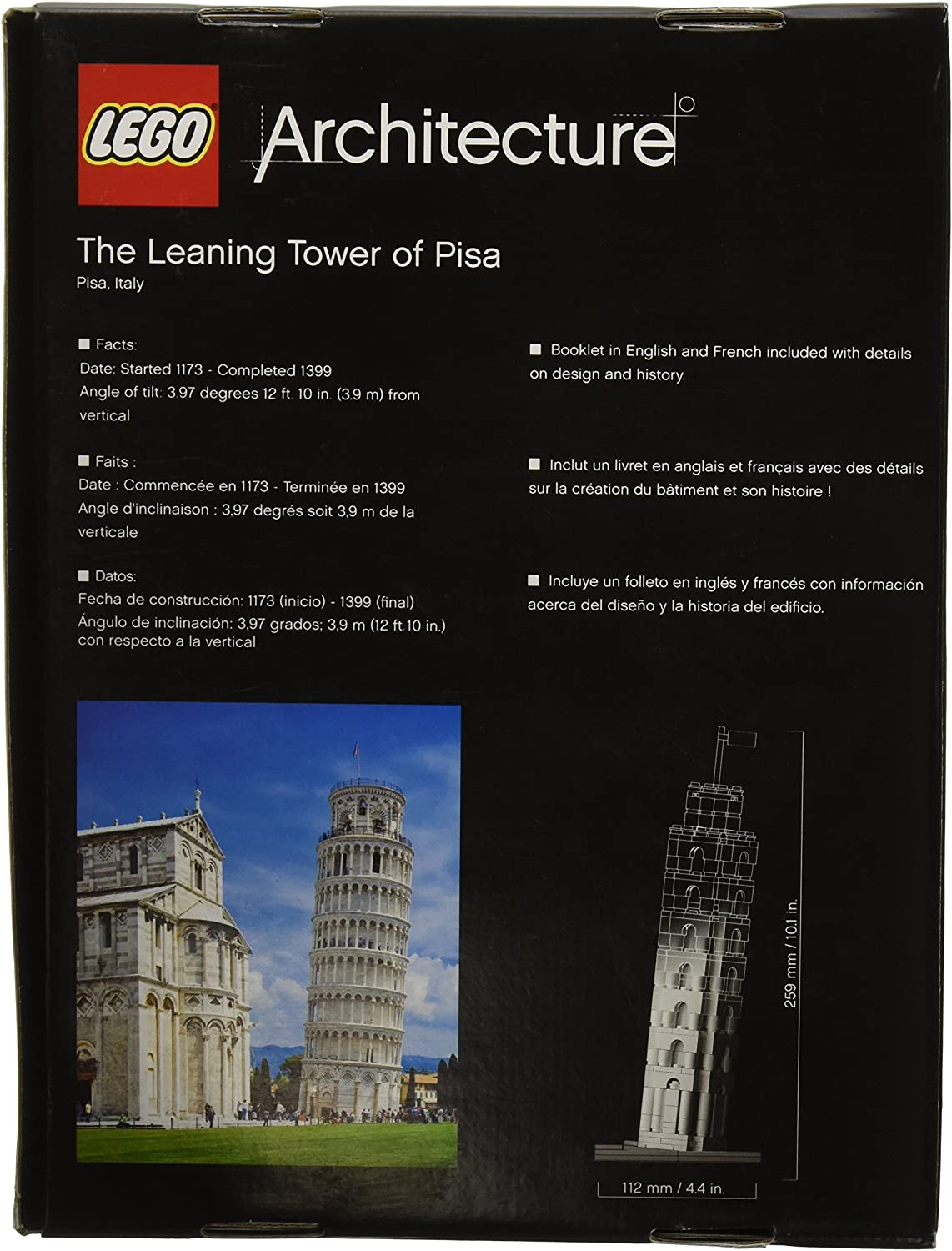 LEGO Architecture The Leaning Tower of Pisa (Discontinued by manufacturer) by LEGO: Amazon.es: Juguetes y juegos