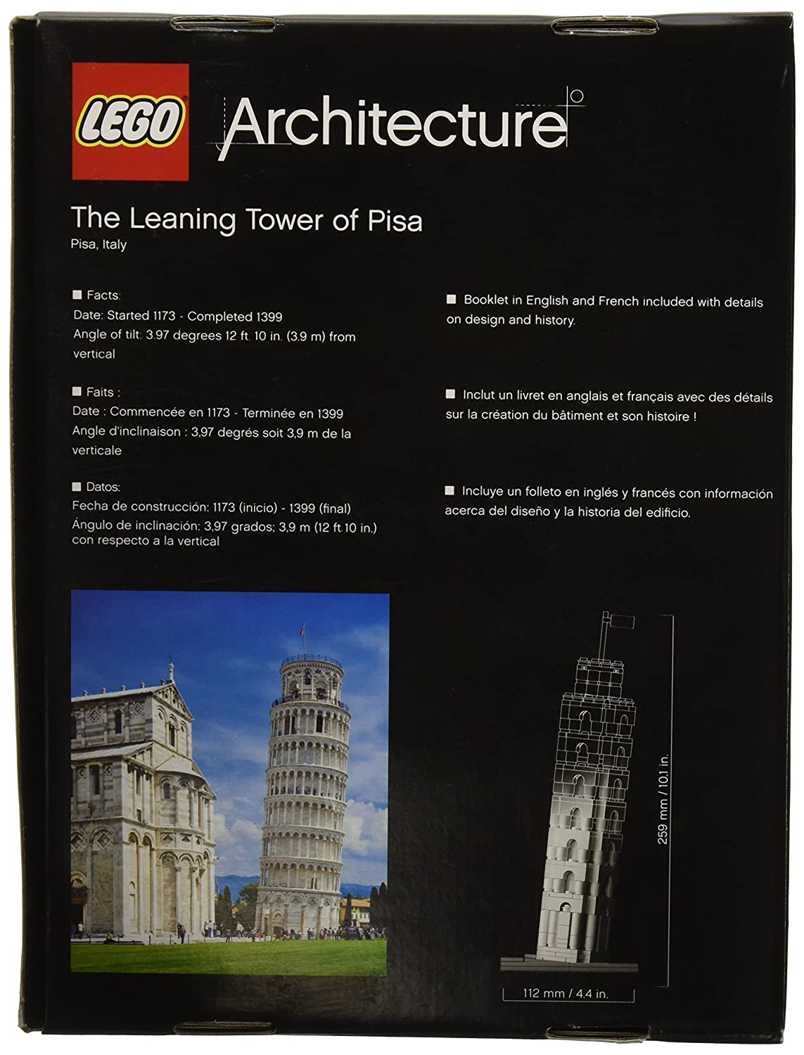 Amazon.com: LEGO Architecture The Leaning Tower of Pisa (Discontinued by  manufacturer): Toys & Games
