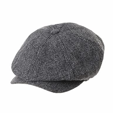 WITHMOONS Sombreros Gorras Boinas Bombines Newsboy Hat Wool Felt Simple Gatsby Ivy Cap SL3525 (Grey): Amazon.es: Ropa y accesorios