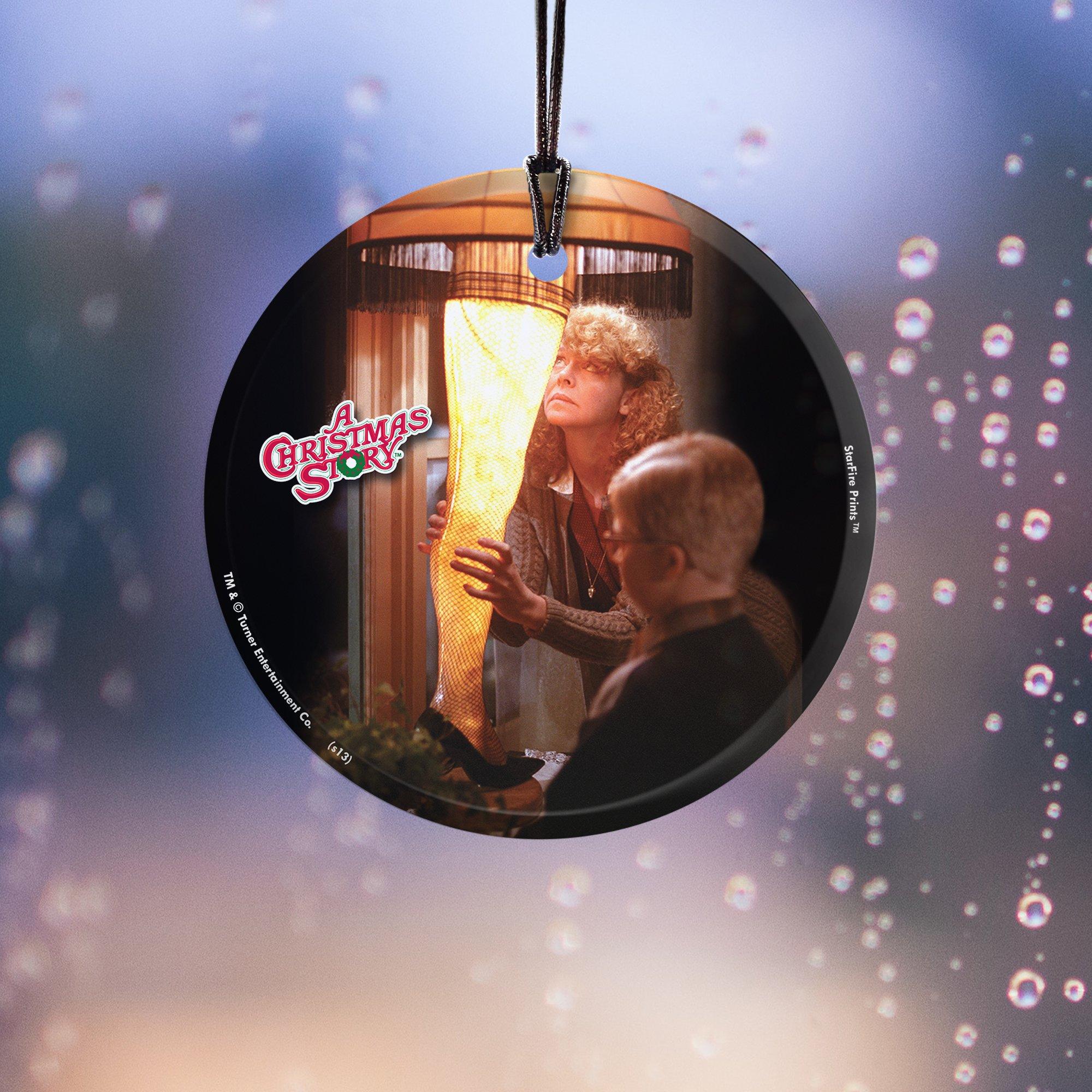 Trend Setters Christmas Story (Leg Lamp) StarFire Prints Hanging Glass