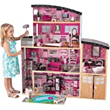 KidKraft Sparkle Mansion Wooden Dollhouse with Lights & Sounds, Swimming Pool, Balcony, Elevator and 30 Accessories, Pink, Gi
