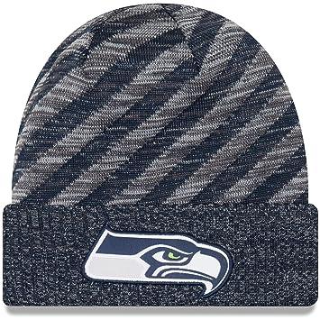 9d0dfcb72f1 New Era NFL Sideline 2018 Knit Beanie - Seattle Seahawks  Amazon.co ...