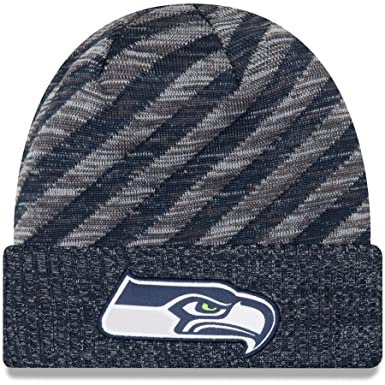 Image Unavailable. Image not available for. Color  New Era 2018 NFL Seattle  Seahawks Touchdown Tech Stocking Knit Hat Winter Beanie be87f5e01