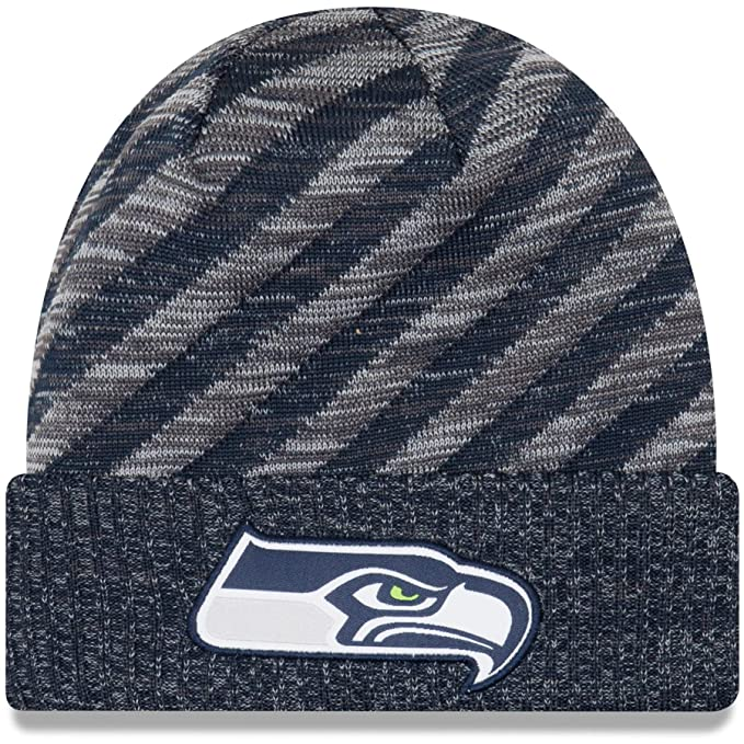 f1308af8469 Image Unavailable. Image not available for. Color  New Era 2018 NFL Seattle  Seahawks Touchdown Tech Stocking Knit Hat ...