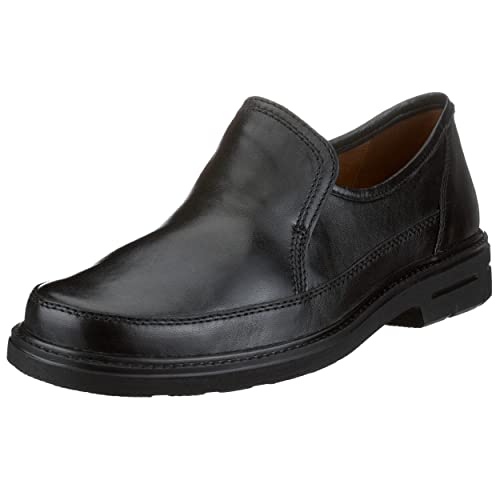 25970 - Zapatos clásicos de cuero para hombre, color negro, talla 46 Sioux